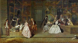 The Gersaint Shop Sign, 1721 by Watteau | Painting Reproduction