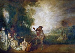 The Concert (The Music Lesson) | Watteau | Gemälde Reproduktion