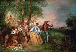 The Shepherds | Watteau | Gemälde Reproduktion