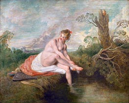 Diana Bathing, c.1715/16 by Watteau | Painting Reproduction