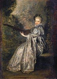La Finette, c.1717 by Watteau | Painting Reproduction