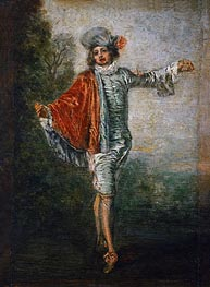 L'Indifferent, c.1717 by Watteau | Painting Reproduction