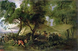 Respite from War, c.172/15 by Watteau | Painting Reproduction