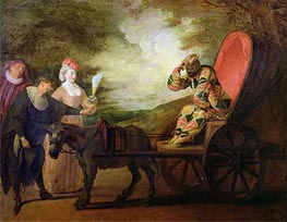 The Harlequin, Emperor of the Moon, c.1712 by Watteau | Painting Reproduction