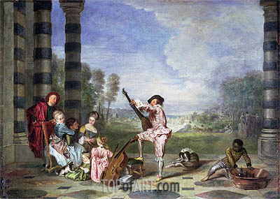 The Music Party (Les charmes de la vie), c.1717/18 | Watteau | Painting Reproduction