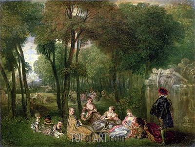 Les Champs Elisees, c.1717/18 | Watteau| Painting Reproduction