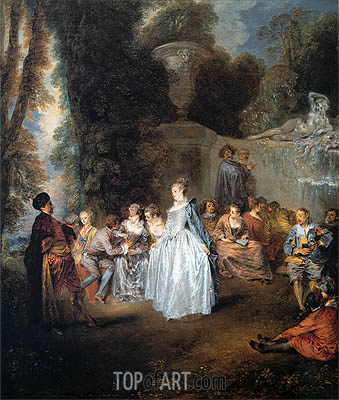 The Venitian Festival, c.1718/19 | Watteau| Painting Reproduction