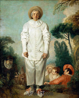 Pierrot (Gilles), c.1718/19 | Watteau | Painting Reproduction