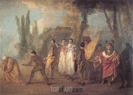 Whatever I Build, Assassins Destroy, c.1716/18 | Watteau | Painting Reproduction