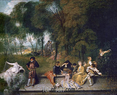Watteau | Meeting in the Open Air, c.1719/20