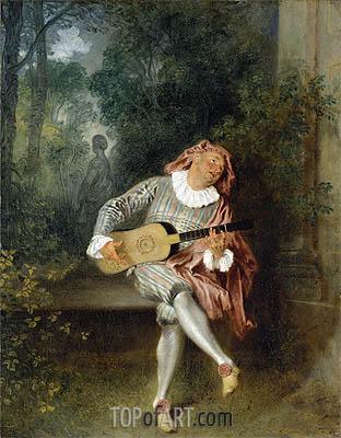 Watteau | Mezzetin, c.1718/20