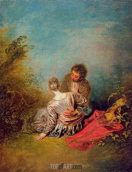 Watteau | Le faux-pas (The Misste), c.1716/18