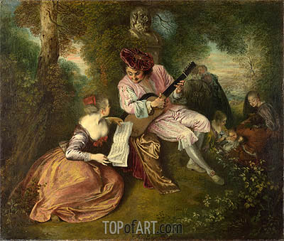 The Scale of Love, c.1715/18 | Watteau | Painting Reproduction