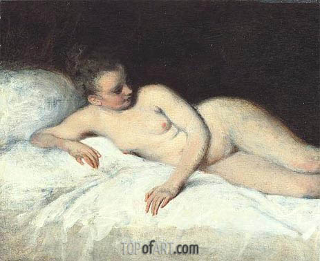 Reclining Nude, c.1713/17 | Watteau| Painting Reproduction