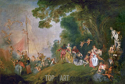 Pilgrimage to Cythera, c.1718/19 | Watteau| Painting Reproduction