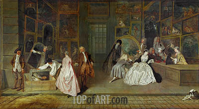 The Gersaint Shop Sign, 1721 | Watteau | Painting Reproduction