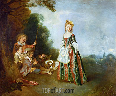 The Dance (Iris), c.1719 | Watteau| Painting Reproduction