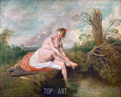 Diana Bathing, c.1715/16 | Watteau | Painting Reproduction