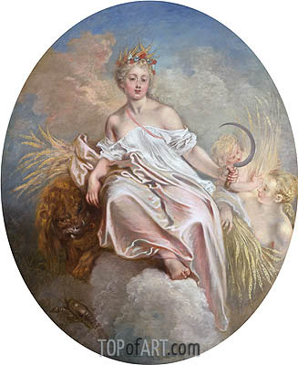 Ceres (Summer), c.1715/16 | Watteau| Painting Reproduction