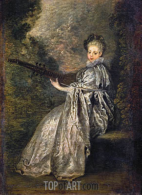 La Finette, c.1717 | Watteau | Painting Reproduction