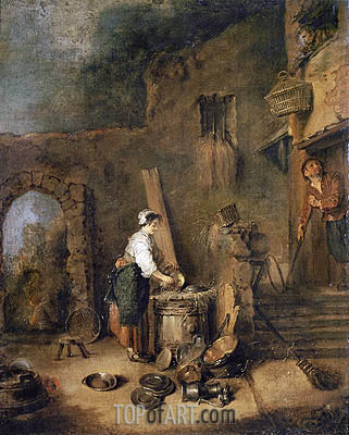 The Cook, undated | Watteau | Painting Reproduction