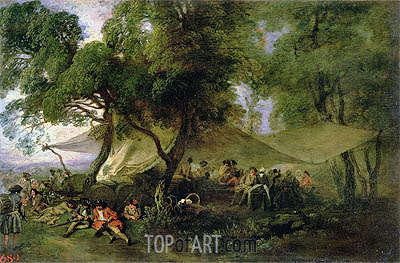 Respite from War, c.172/15 | Watteau | Painting Reproduction