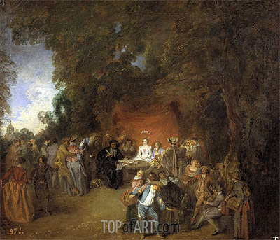 Capitulations of Wedding and Rural Dance, c.1711 | Watteau| Gemälde Reproduktion