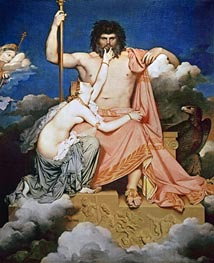 Jupiter and Thetis | Ingres | outdated