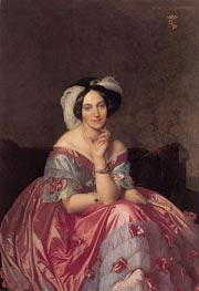Betty de Rothschild, Baronne de Rothschild, 1848 von Ingres | Gemälde-Reproduktion