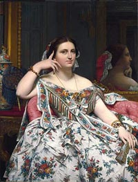 Madame Moitessier, 1856 by Ingres | Painting Reproduction
