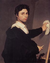 Ingres as a Young Man, c.1850/60 von Ingres | Gemälde-Reproduktion
