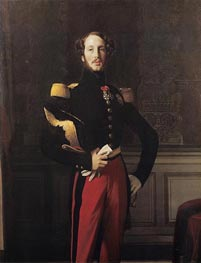 Ferdinand-Philippe-Louis-Charles, Duke of Orleans, 1842 by Ingres | Painting Reproduction
