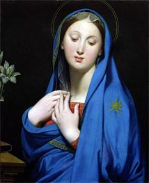 Virgin of the Adoption, 1858 von Ingres | Gemälde-Reproduktion