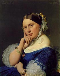 Delphine Ramel, Madama Ingres, 1859 by Ingres | Painting Reproduction