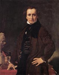 Lorenzo Bartolini, 1820 by Ingres | Painting Reproduction