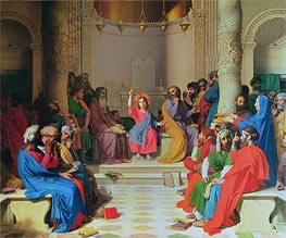 Jesus Among the Doctors, 1862 by Ingres | Painting Reproduction