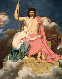 Jupiter and Thetis, Undated by Ingres   Painting Reproduction