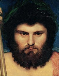 Head of Jupiter (Study for Jupiter and Thetis), 1810 by Ingres   Painting Reproduction