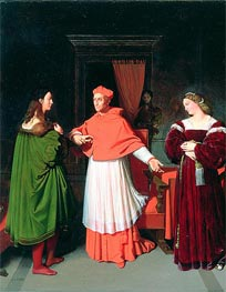 The Betrothal of Raphael and the Niece of Cardinal Bibbiena, 1813 by Ingres   Painting Reproduction