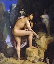 Oedipus and the Sphinx, 1864 by Ingres | Painting Reproduction