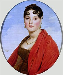 Portrait of Madame Aymon (La Belle Zelie), 1806 by Ingres   Painting Reproduction