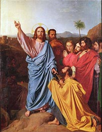 Jesus Returning the Keys to St. Peter, 1820 by Ingres | Painting Reproduction