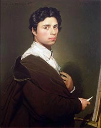 Self Portrait at the Age of Twenty-Four, 1804 by Ingres | Painting Reproduction
