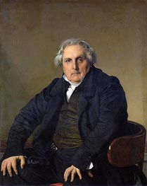 Louis-Francois Bertin, 1832 by Ingres | Painting Reproduction