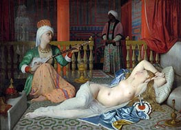 Odalisque with a Slave, c.1839/40 by Ingres | Painting Reproduction