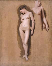 Study for 'Roger Freeing Angelica', 1818 by Ingres | Painting Reproduction
