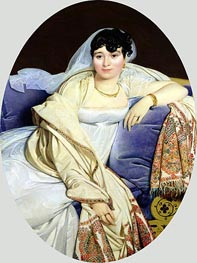 Portrait of Madame Riviere nee Marie Francoise Jacquette Bibiane Blot de Beauregard, 1805 by Ingres | Painting Reproduction
