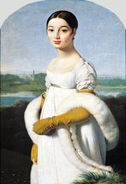 Portrait of Mademoiselle Caroline Riviere, 1805 by Ingres | Painting Reproduction