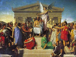 The Apotheosis of Homer, 1827 by Ingres | Painting Reproduction