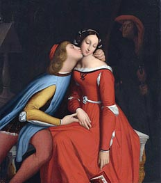 Paolo and Francesca | Ingres | Painting Reproduction